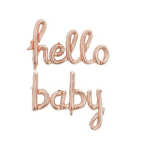 Hello Baby Globos Bautizo Baby Shower script Rose Globos género revelan