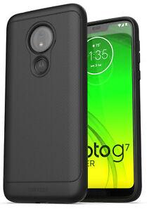 Moto G7 Power Case Thin Armor Slim Fit Flexible Grip Phone Cover Black Ebay