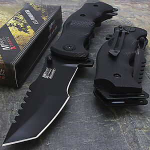 """9"""" MTECH USA TACTICAL TANTO LARGE SPRING OPEN ASSISTED FOLDING POCKET KNIFE EDC"""