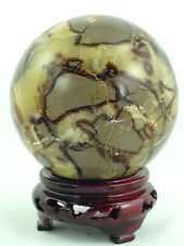 "BUTW Septarian Gemstone Dragon Stone 101mm/4"" Lapidary Carved Sphere 0754P"
