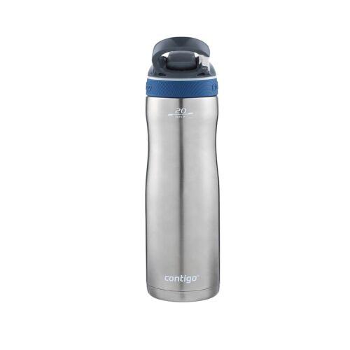 Contigo AUTOSPOUT Ashland Chill Water Bottle 20oz Monaco Blue w// Straw Insulated
