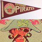 1960's Vintage Pittsburgh Pirates Baseball Mlb 4x8.75 Mini Pennant Flag Red