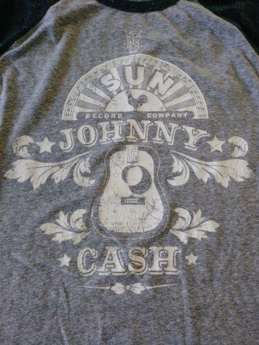 Sun Records Johnny Cash Henley Baseball Long sleev