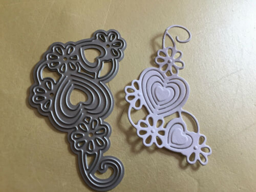 TONIC STUDIOS SOMEONE SPECIAL HEART CORNER CUTTING /& EMBOSSING DIE LOT 2