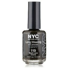 New York Color Long Wearing Nail Enamel, Black Lace Creme [119] 0.45 oz