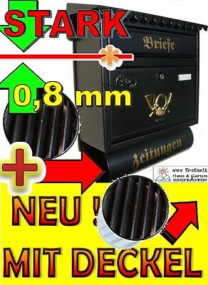 XXL Briefkasten groß mit Zeitungsfach Nostalgie Design Postkasten Zeitungen NEU