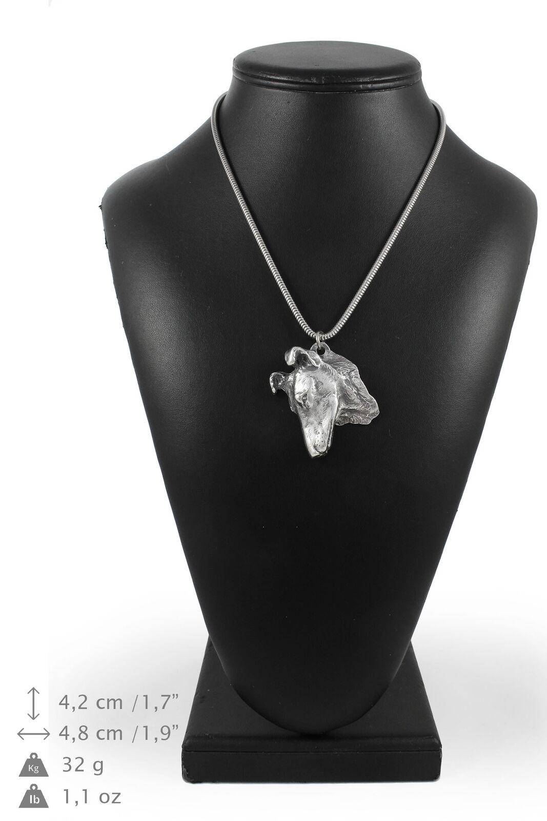 Smooth collie - collana con un cane su una catena d'silver Art Dog IT