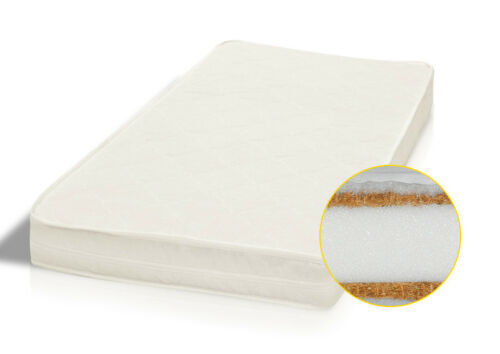 Kokosnuss Gewebe Schaumstoff Natur Matratze für Kinderbett 120 x 60cm