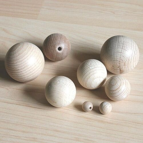 10er Pack Holzkugeln Buche 4,0 mm durchgebohrt 0,10€//Stück