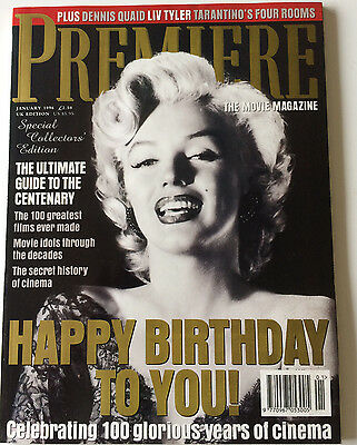 Marilyn Monroe Happy Birthday Premiere UK Movie Magazine 100 Years of Cinema