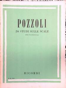 per pianoforte Pozzoli 28228 Spartito 20 studi sulle scale