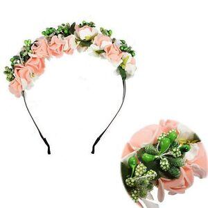 Garland-Rose-Bridal-Flower-Festival-Crown-Headband-Hairband-Floral-Hair-Wreath