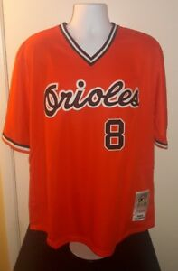 7229205badf Cal Ripken Jr. Baltimore Orioles 1982 Mitchell and Ness Retro Jersey ...