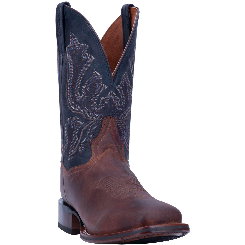 Dan para hombre Winslow marrón & Post Dedo Del Pie Cuadrado Azul Occidental botas DP4556
