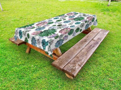 Mexican Cactus Outdoor Picnic Tablecloth in 3 Sizes Washable Waterproof