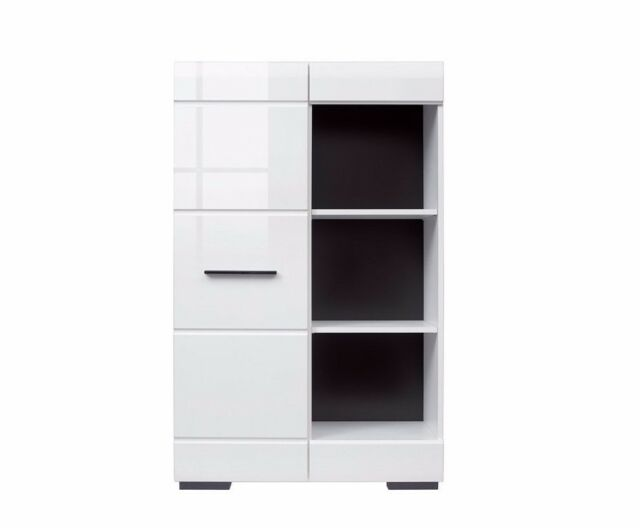 Shelving Unit Sideboard Display Cabinet Narrow Bookcase Sonoma Oak 80cm Fever