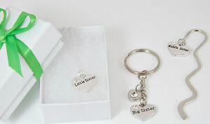 Image Is Loading Big Middle Or Little Sister Necklace Keyring