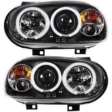 Scheinwerfer Set VW Golf IV 4 Typ 1J Bj. 97-03 Angel Eyes klarglas/schwarz