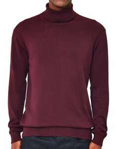 MEN-S-NEW-RIVER-ISLAND-ROLL-TURTLE-NECK-JUMPER-SIZE-SMALL-38-034-DARK-PURPLE-NWOT