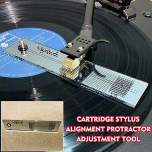 Cartucho-de-placa-giratoria-Phono-HERRAMIENTA-DE-ALINEACIoN-PROTRACTOR-Stylus-fonografo-Acces-Zt