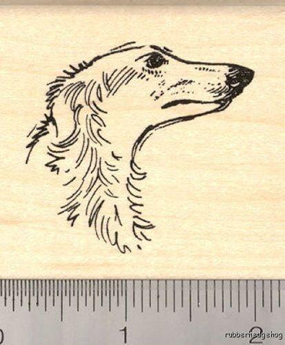 Borzoi Russian Wolf Hound Rubber Stamp G12109 WM dog hunting
