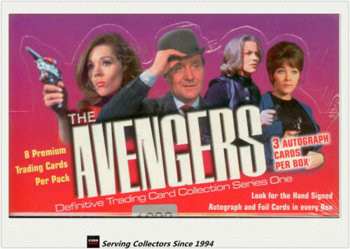36 pks -2 to3 Signature cards The Avengers Definitive Trading Card Series 1 Box