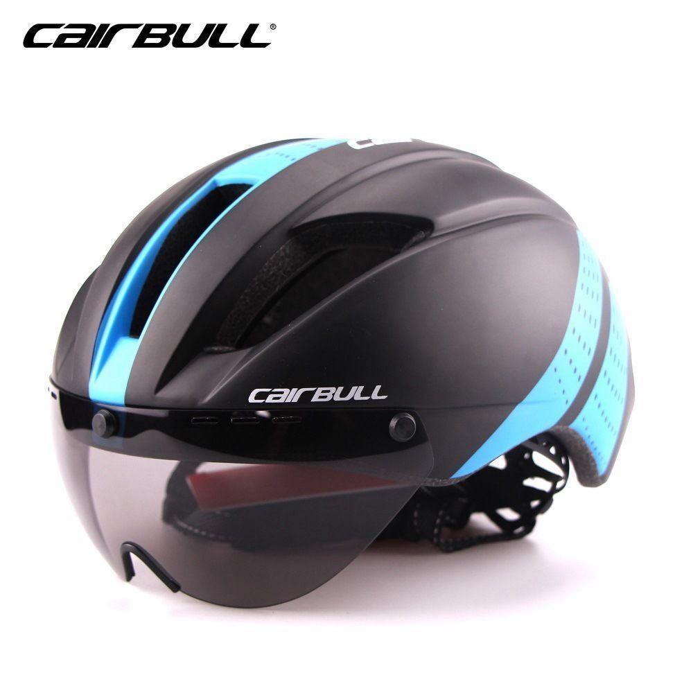 Triathlon MTB Road Bike Helmet high-density Bicycle Detachable Goggles Visor