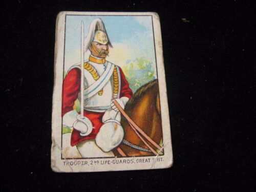 Fez Military Series Trooper 2nd Life Guard Great Britain Tobacco Card 1900's