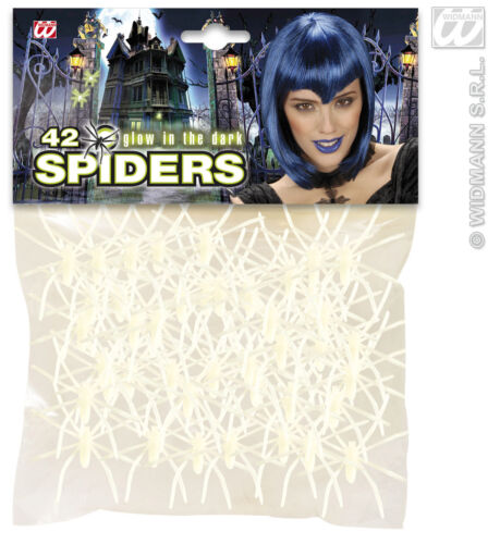 5381 42 Spinnen 5 cm leuchten im dunkeln Halloween