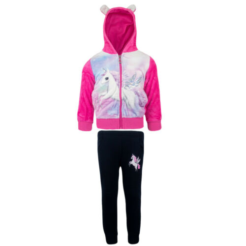 Mädchen Freizeitanzug Jogginganzug Hose Jacke Kapuze Sport Set Blau
