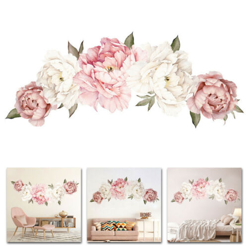 Flower Wall Stickers Self Adhesive Decals Wall Sticker Bedroom Living Room Decor