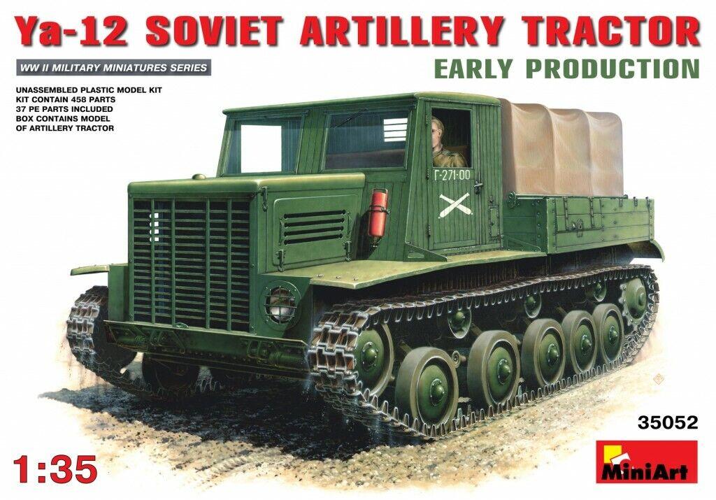 Miniart 1 35 Ya-12 Early Production Soviet Artillery Tractor Model Kit