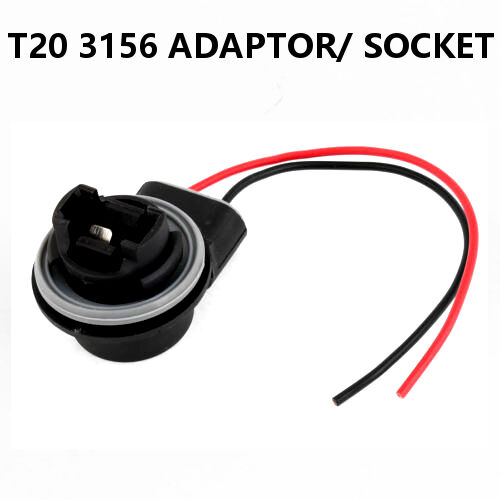 1 x 3156 T20 7440 LED Bulb Brake Indicator Light Socket Wire Adapter Replacement