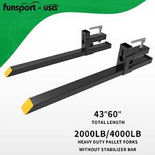 4000lb2000lb Clamp Bucket Fork Quick Attach Fork For Backhoe Skid Steer Loader