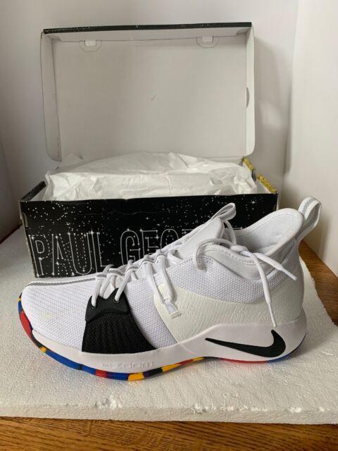 buy popular 5492f 941d9 Nike PG 2 II TS NCAA March Madness Paul George White Black AJ5163-100 Mens  SZ 14