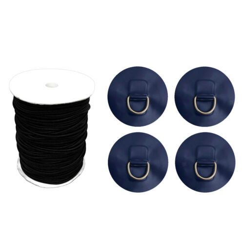 4x D-ring Pad Patch Bungee Kit Deck Attachment for Stand Up Paddle Board SUP