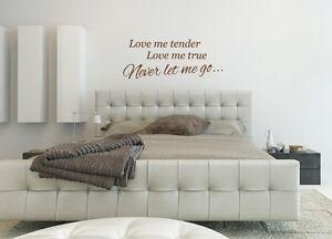 Détails sur Elvis presley love me tender Music Paroles Wall Art Autocollant  Décoration Maison Chambre À Coucher- afficher le titre d\'origine