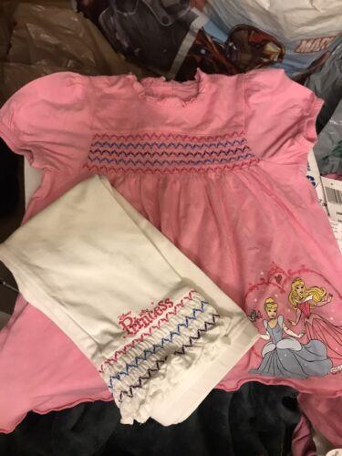 Disney Parks Princess 12-24 Months Outfit Pants /& Shirt Girls
