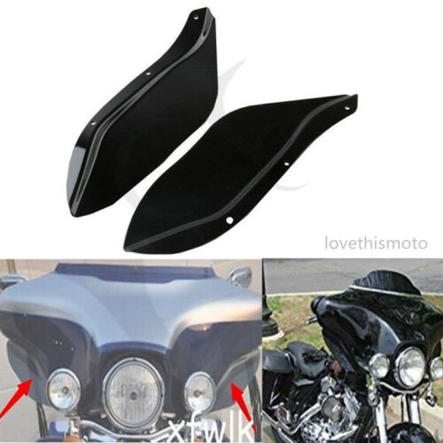 Side Wing Windshield Air Deflector Fit For Harley Touring FLHR FLHT FLHX 96-13