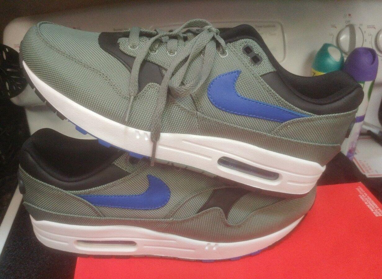 Nike Air Max 1 Premium clay green royal 875844-300 size 10 97 98 atmos 1 jordan