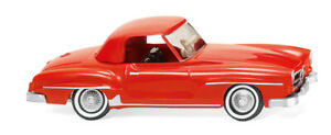 WIKING-025301-Mercedes-Benz-190-Sl-Coupe-034-Red-034-Ho-1-87-New