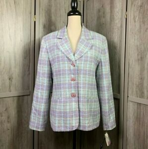 Women-039-s-CLIO-2-Suit-NWT-Career-Work-Pretty-Blazer-3-Buttons-Front-Pock-Size-14