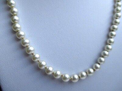 Collier Bijou Vintage Perles Nacrées Noeud De Soutien Fermoir Pas De Vis 709 Lucentezza Luminosa