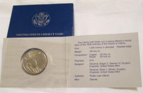 1986 Statue of Liberty Commemorative Half Dollar Uncirculated US Mint Box /& COA