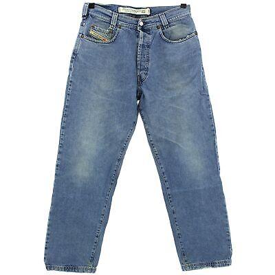 #4174 Diesel Jeans Uomo Pantaloni New Saddle Denim Blue Stone Blu 33/30-mostra Il Titolo Originale Una Grande Varietà Di Modelli
