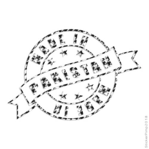 Size #3947 Made In Pakistan Stamp Logo Decal Sticker Choose Pattern