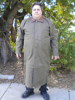 Clearance Men's Extra Long L/ Xl/ Xxl All Weather Duster Trench Coat W/liner