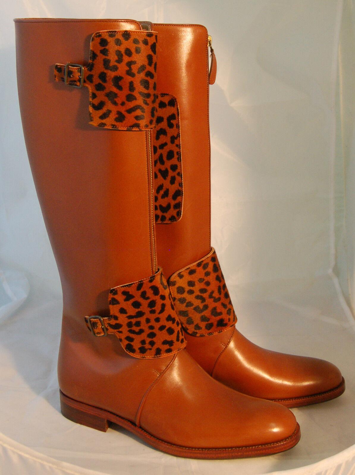 STIVALE DONNA-WOMAN BOOT-40-VIT.COL.CUOIO-CALF LIGTH LIGTH BOOT-40-VIT.COL.CUOIO-CALF BROWN-LTH SOLE+½ RUBBER dfb712