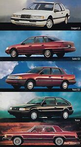1989 Mercury Sales Brochure Book Cougar Grand Marquis
