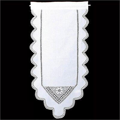 Gardine Vorhang Scheibengardine Fensterdeko Häkelspitze 45x75 Handarbeit neu